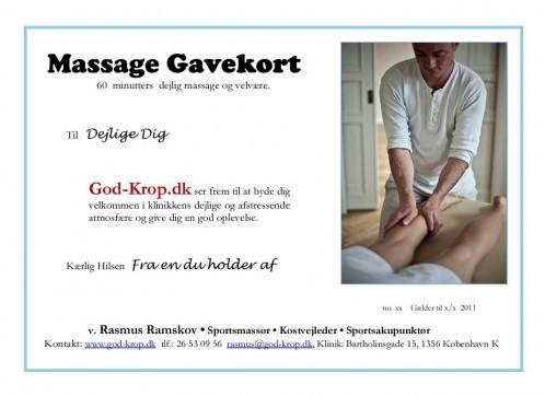 massage gavekort københavn